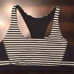 Lululemon Striped Sports Bra- Size 6